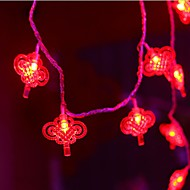 ieftine -2.5m Fâșii de Iluminat 10 LED-uri Alb Cald Decorativ Baterii AA alimentate 1set