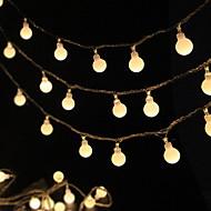 tanie -3 M Łańcuchy świetlne 20 Diody LED Ciepła biel Dekoracyjna Zasilanie bateriami AA 1 zestaw