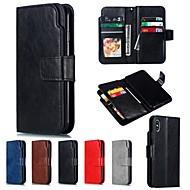 Nillkin Capinha Para Apple iPhone XR / iPhone XS Max Carteira / Porta-Cartão Capa Proteção Completa Sólido Rígida PU Leather para iPhone XS / iPhone XR / iPhone XS Max