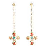 cheap -Women's Long Drop Earrings - Stylish Jewelry Gold For Engagement 1 Pair