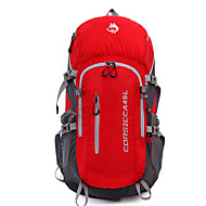 お買い得  -Jungle King 45 L バックパック - 通気性, 耐久性 アウトドア ハイキング, 登山 ナイロン レッド, ブルー, グレー