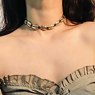 levne -Dámské Obojkové náhrdelníky Postříbřené Pozlacené Tropický vzhled Zlatá Stříbrná Světle hnědá 30 cm Náhrdelníky Šperky 1ks Pro Svatební Narozeniny Večerní oslava Miláček Bikini