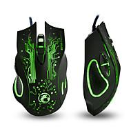 お買い得  -IMICE X9 有線USB ゲーミングマウス 呼吸の光を導いた 800/1200/1600/2400 dpi 4調整可能なDPIレベル 6 pcs キー