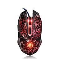お買い得  -IMICE X5 有線USB ゲーミングマウス 呼吸の光を導いた 800/1200/1600/2400 dpi 4調整可能なDPIレベル 6 pcs キー