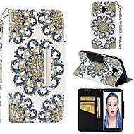 ราคาถูก -Case สำหรับ Samsung Galaxy J6 / J4 Wallet / Card Holder / Shockproof ตัวกระเป๋าเต็ม ดอกไม้ Hard หนัง PU สำหรับ J8 (2018) / J7 (2017) / J7 (2018)