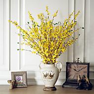 お買い得  -人工花 2 ブランチ クラシック 欧風 田園 スタイル 永遠の花 テーブルトップフラワー