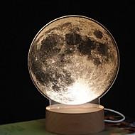 ieftine -1 buc MOON LED-uri de lumină de noapte Galben USD Controlat de la distanță / Creative <=36 V