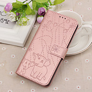 cheap -Case For Samsung Galaxy J7 (2017) / Galaxy J4(2018) Wallet / Card Holder / with Stand Full Body Cases Animal Hard PU Leather for J8 (2018) / J7 (2017) / J7 (2018)