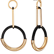 cheap -Women's Black Geometrical Drop Earrings - Stylish Simple Jewelry Gold / Silver For Street 1 Pair