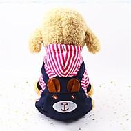 economico -Prodotti per cani Tuta Abbigliamento per cani Strisce Rosso Blu Tessuto felpato Costume Per Primavera & Autunno Inverno Unisex Casual A strisce