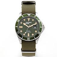 זול -בגדי ריקוד גברים שעונים צבאיים Japanese קוורץ יפני ניילון תלתן 30 m עמיד במים לוח שנה שעונים יום יומיים אנלוגי וינטאג' אופנתי - ירוק שנתיים חיי סוללה