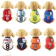 economico -Prodotti per cani Gilè Abbigliamento per cani Monocolore Strisce Lettere & Numeri Giallo Rosso Blu Rete Costume Per Primavera Estate Per femmina Casuale / sportivo