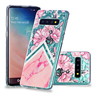 cheap -Case For Samsung Galaxy Galaxy S10 Plus / Galaxy S10 E Shockproof / Transparent / Pattern Back Cover Marble Soft TPU for S9 / S9 Plus / S8 Plus