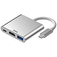 abordables -Cooho 3 Hub USB USB 3.0 Type C HDMI 2.0 Protection de l'Entrée Hub de données