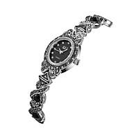 저렴한 -ASJ 여성용 손목 시계 일본어 일본 쿼츠 블랙 캐쥬얼 시계 아날로그 빈티지 캐쥬얼 - 블랙 1 년 배터리 수명