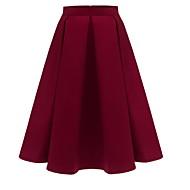 זול -מעל הברך של הנשים חצאיות קו - בצבע מלא