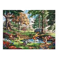 저렴한 -직쏘 퍼즐 풍경화 여우 애니멀 부모 - 자녀 상호 작용 모두 장난감 선물