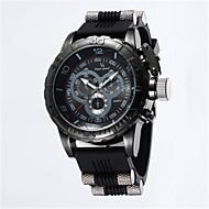 Χαμηλού Κόστους -V6 Ανδρικά Αθλητικό Ρολόι Χαλαζίας καουτσούκ Μαύρο / Μπλε / Γκρι 50 m Καθημερινό Ρολόι Αναλογικό Βίντατζ Καθημερινό - Μαύρο Γκρίζο Μπλε