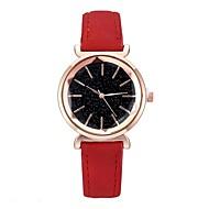 preiswerte -Damen Uhr Kleideruhr Quartz Leder Schwarz / Rot / Lila 30 m bezaubernd Cool Analog Glanz Modisch Grün Blau Dunkelrot