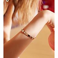 저렴한 -여성용 뱅글 티타늄 스틸 단순한 팔찌 보석류 로즈 골드 제품 생일 선물 일상 애인