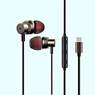 povoljno -Factory OEM MS21TYPE-C U uhu Žičano Slušalice Slušalica mobitel Slušalica Stereo / S mikrofonom / S kontrolom glasnoće Slušalice