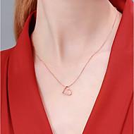 저렴한 -여성용 목걸이 S925 스털링 실버 한국어 패션 로즈 골드 40+3 cm 목걸이 보석류 1 개 제품 생일 선물 애인 제전