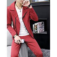 povoljno -Muškarci odijela, Jednobojni Zašiljeni rever Poliester Obala / Crn / Red XL / XXL / XXXL