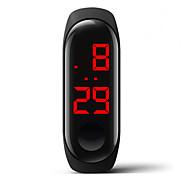 halpa -Miesten Digitaalinen Watch Digitaalinen Silikoni Valkoinen / Sininen / Punainen 30 m Vedenkestävä Luova Digitaalinen Muoti Värikäs - Punainen Sininen Pinkki