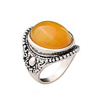 זול -בגדי ריקוד נשים צהוב טבעת שרף Fashion Ring תכשיטים צהוב עבור מתנה יומי