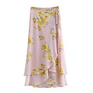 זול -פרחוני - חצאיות גזרת A בסיסי בגדי ריקוד נשים