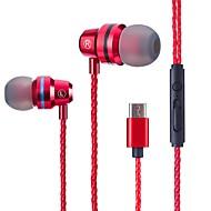 رخيصةأون -LITBest في الاذن سلكي Headphones سماعة جل السيليكا / معدن الهاتف المحمول سماعة ستيريو سماعة