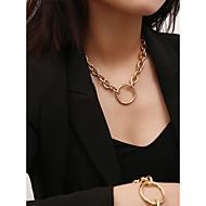 זול -בגדי ריקוד נשים שרשראות מחרוזת שרשראות תליון שרשרת זהב כסף 40 cm שרשראות תכשיטים 1pc עבור מתנה יומי פגישה (דייט) רחוב פֶסטִיבָל