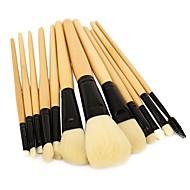 お買い得  -プロ メイクブラシ 12個 プロフェッショナル ソフト フルカップ 合成 人造繊維製ブラシ 木製/竹 にとって アイライナーブラシ チーク ファウンデーションブラシ 化粧用ブラシ リップブラシ ラッシュブラシ 眉毛ブラシ アイシャドウブラシ