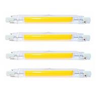 halpa -SENCART 4kpl 9 W Putkivalot 900 lm R7S T 1 LED-helmet COB Vedenkestävä Pyörivä Himmennettävissä Lämmin valkoinen Kylmä valkoinen 220-240 V