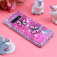 cheap -Case For Samsung Galaxy Galaxy S10 Plus / Galaxy S10 E Shockproof / Flowing Liquid / Pattern Back Cover Butterfly / Glitter Shine Soft TPU for S9 / S9 Plus / S8 Plus
