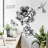 Cheap Decoration Stickers Nordic Modern Minimalist Hand Painted Floral Wall  Stickers Creative Personality Bedroom