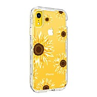 cheap -BENTOBEN Case For Apple iPhone XR Shockproof / Transparent / Pattern Back Cover Flower Hard TPU / PC for iPhone XR