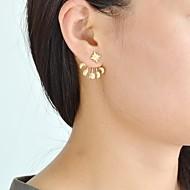 저렴한 -여성용 기하학적 인 앞 & 뒤 스타일 귀걸이 귀걸이 세련 단순한 보석류 골든 제품 일상 1 쌍