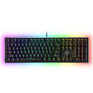 abordables -dareu ek925 clavier mecanique filaire mecanique lumineux retro multicolore 108 touches