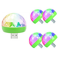 tanie -5szt globe led light night disco ball lampka kolorowa z portem głosowym sterowanie głosem 5 v
