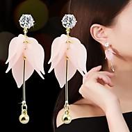 Χαμηλού Κόστους -Γυναικεία Cubic Zirconia Κρεμαστά Σκουλαρίκια Ρητίνη Σκουλαρίκια Λουλούδι Στυλάτο Γλυκός Κοσμήματα Λευκό / Ροζ Ανοικτό Για Καθημερινά 1 Pair