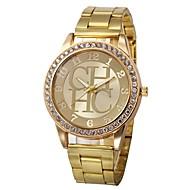 billige -Dame Quartz Klassisk Mode Sølv Guld Rose Guld Legering Kinesisk Quartz Guld Sølv Rose Guld Kronograf Sødt Kreativ 30 m 1 stk Analog To år Batteri Levetid