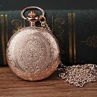 billige -Herre Lommeure Quartz Rose Guld Afslappet Ur Stor urskive Analog Blomst Mode - Rose Guld