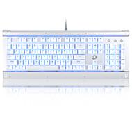 levne -dareu ek812 USB kabelová mechanická klávesnice mechanická svítící vícebarevná podsvícená 104 ks klíčů