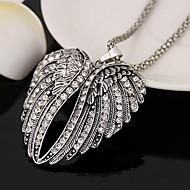 Χαμηλού Κόστους -Γυναικεία μακρύ κολιέ Προσομειωμένο διαμάντι Άγγελος φτερά Απλός Ασημί 80 cm Κολιέ Κοσμήματα 1pc Για Καθημερινά