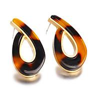 Χαμηλού Κόστους -Γυναικεία Crossover Κουμπωτά Σκουλαρίκια Σκουλαρίκια Κρεμαστό Απλός Βίντατζ Ευρωπαϊκό Κοσμήματα Καφέ Για Καθημερινά Δρόμος Αργίες Δουλειά 1 Pair