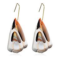 Χαμηλού Κόστους -Γυναικεία Κρεμαστά Σκουλαρίκια Όστρακο Σκουλαρίκια Φύση Τροπικό Κοσμήματα Χρυσό Για Γάμου Πάρτι Καθημερινά Δρόμος Δουλειά 1 Pair
