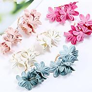 Χαμηλού Κόστους -Γυναικεία Κρεμαστά Σκουλαρίκια Σκουλαρίκια Λουλούδι Στυλάτο Κοσμήματα Φούξια / Πράσινο / Ροζ Ανοικτό Για Καθημερινά 1 Pair