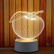 tanie -1 zestaw Noc LED Light / 3D Nightlight Ciepła biel USB Przeciwe stresowi i niepokojom / Słodkie / Wezgłowie 5 V