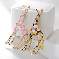 Χαμηλού Κόστους -Γυναικεία Καρφίτσες Καμηλοπάρδαλη χαριτωμένο στυλ Καρφίτσα Κοσμήματα Ροζ Ανοικτό Ανάμεικτο χρώμα Για Καθημερινά